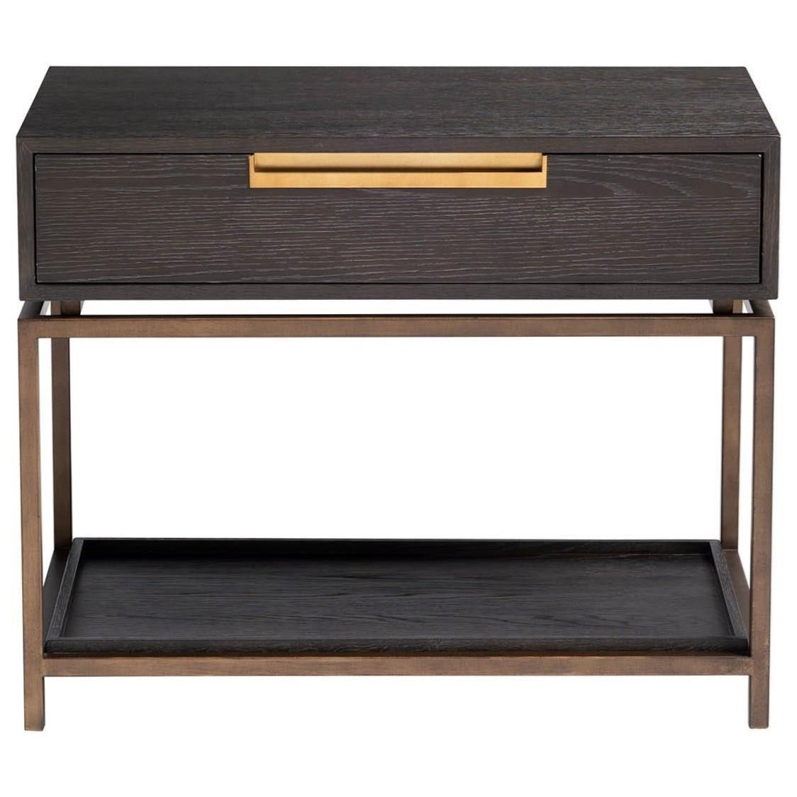 Modern - Onyx Gable Night Table by Universal at Baer's Furniture