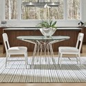 Universal Modern 3-Piece Axel Dining Table Set - Item Number: 964757+2x736-RTA