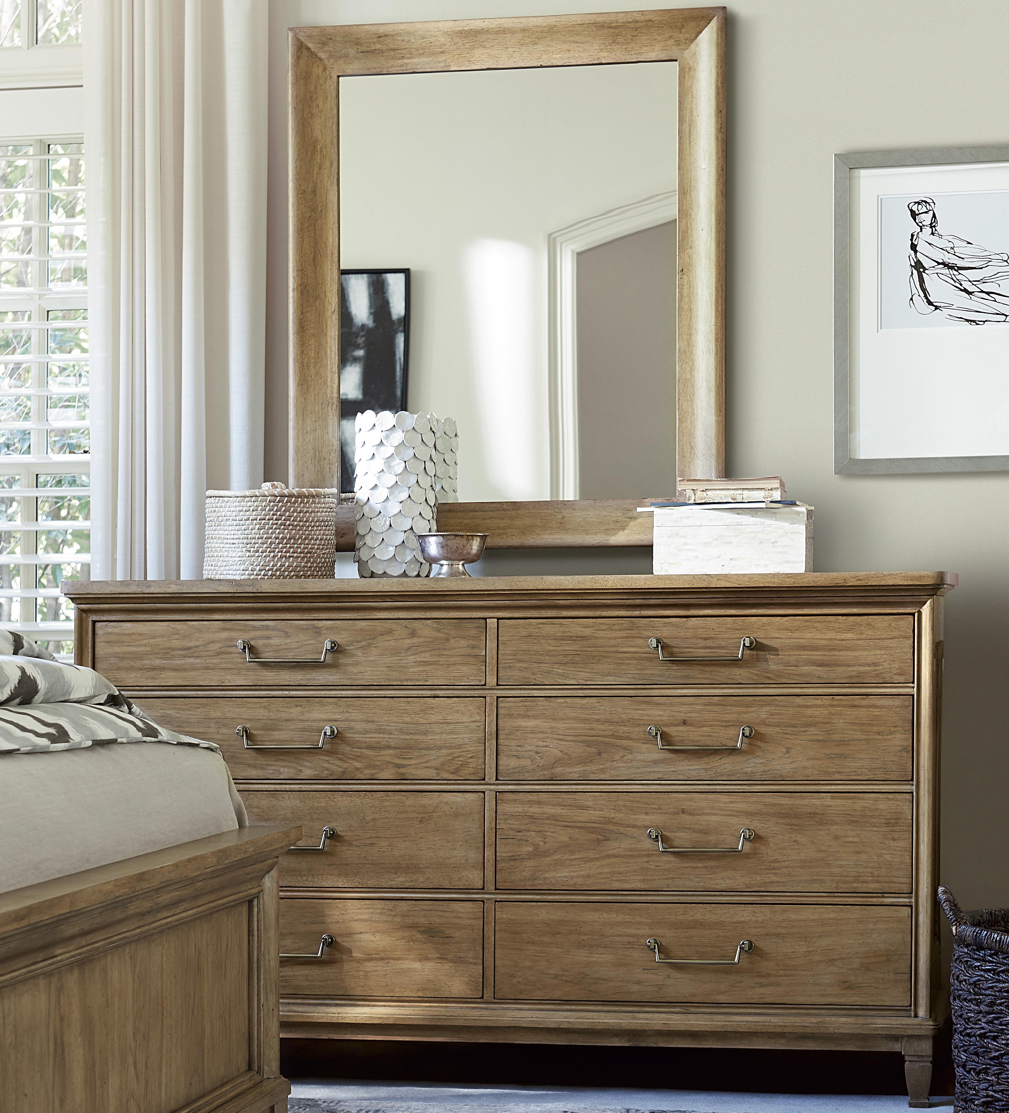 Universal Moderne Muse Dresser and Mirror Set - Item Number: 414040+M