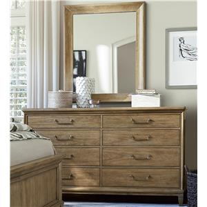 Morris Home Furnishings Moderne Muse Dresser and Mirror Set