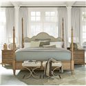 Universal Moderne Muse Queen Maison Poster Bed with Optional Post Heights