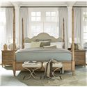 Morris Home Furnishings Moderne Muse Bed End Bench with Tufted Seat