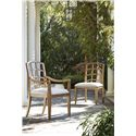 Morris Home Furnishings Moderne Muse Arm Chair with Lattice Back