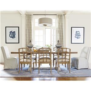 Morris Home Furnishings Moderne Muse 9 Piece Dining Set