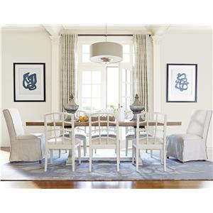 Great Rooms Moderne Muse 9 Piece Dining Set