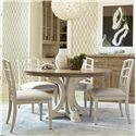 Morris Home Furnishings Moderne Muse 5 Piece Dining Set - Item Number: 414657+4x634CAN-RTA