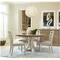 Morris Home Furnishings Moderne Muse 5 Piece Dining Set with Canvas Side Chairs