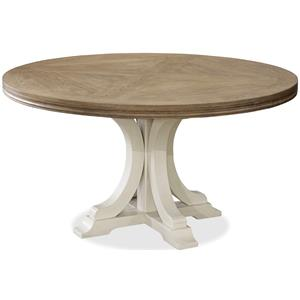 Morris Home Furnishings Moderne Muse Round Dining Table
