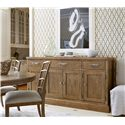 Morris Home Furnishings Moderne Muse Sideboard with 4 Doors and Platter Storage