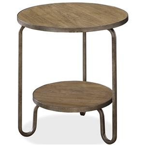 Morris Home Furnishings Moderne Muse Round End Table