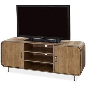 Morris Home Furnishings Moderne Muse Waterfall Media Console