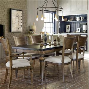 Great Rooms New Bohemian 7 Piece Dining Set
