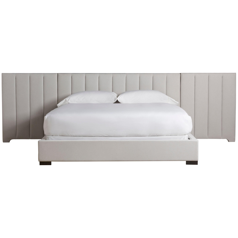 Nina Magon 941 Magon King Upholstered Bed w/ Wall by Universal at Baer's Furniture