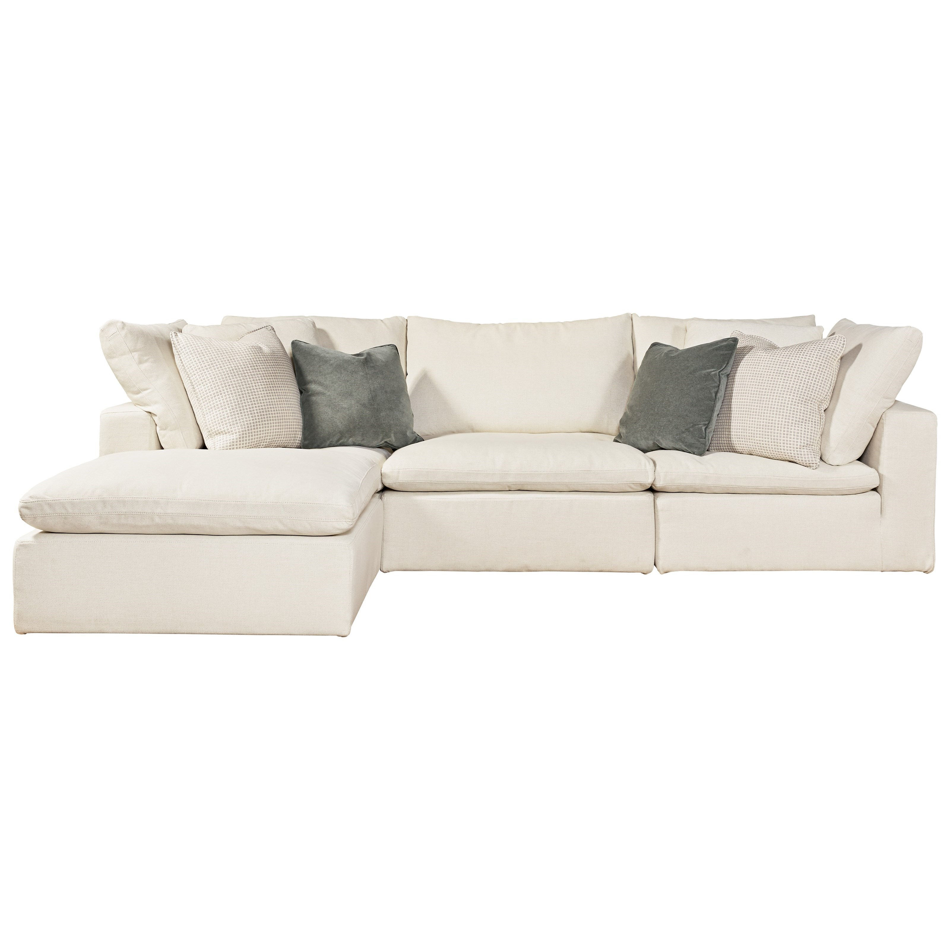 Universal Palmer 4 Piece Sectional With RAF/LAF Ottoman