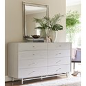 Universal Paradox Dresser and Mirror Combo - Item Number: 827040+M