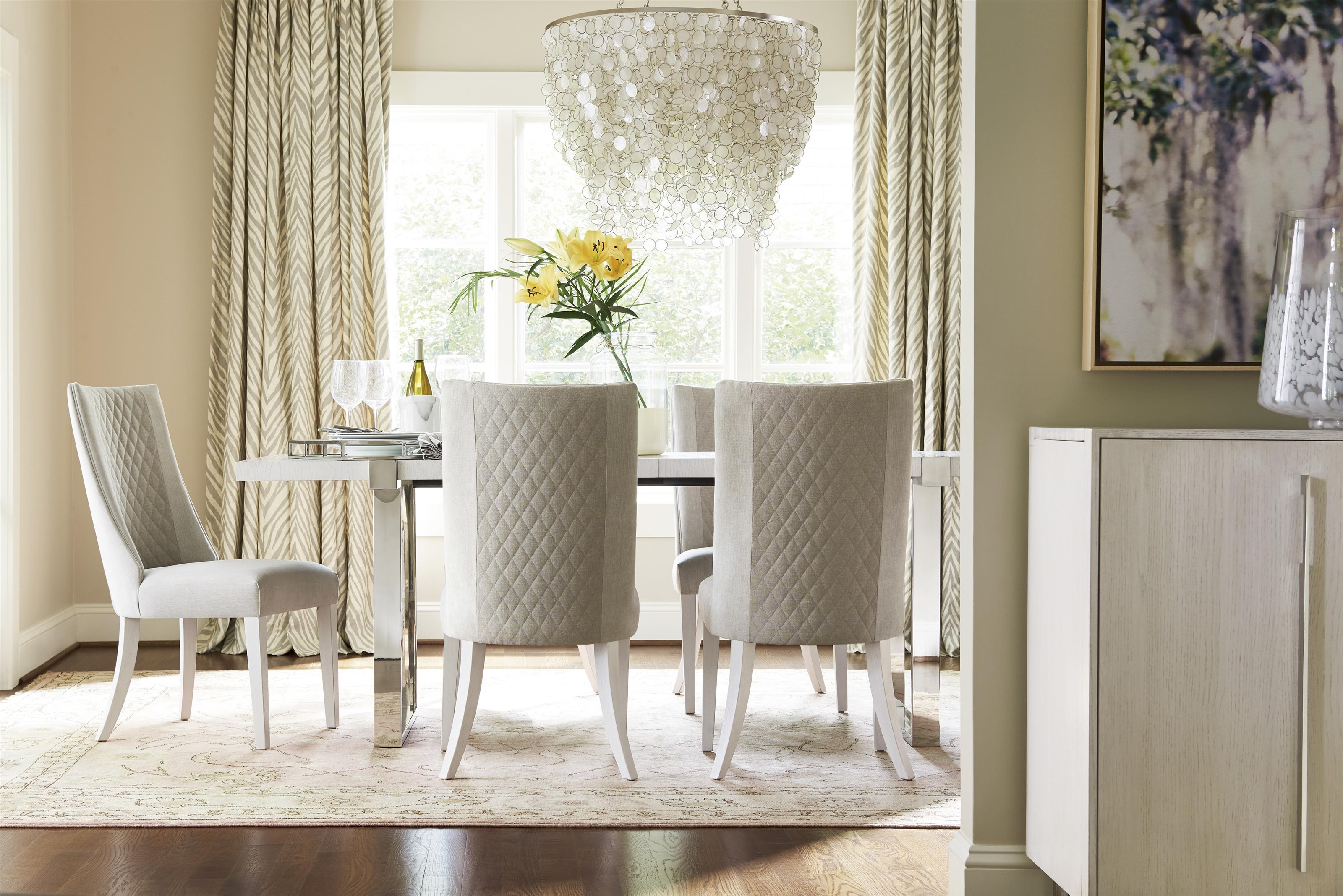 Universal Paradox Glam Dining Table With 20 Table Leaf Stoney