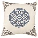 Universal Pillows Uniblue Medallion Pillow - Item Number: P20-7008