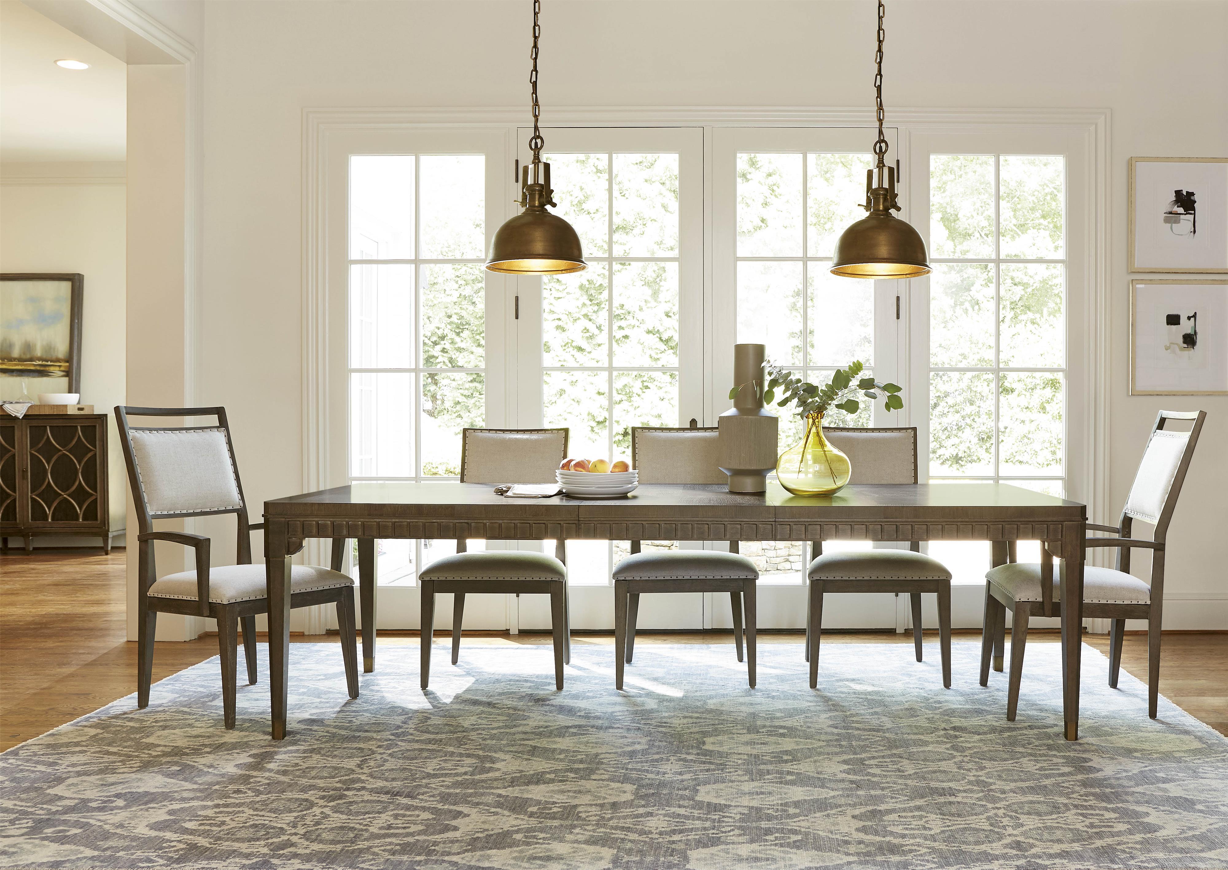 Morris Home Furnishings Platinum Platinum 5-Piece Dining Set - Item Number: 358152381