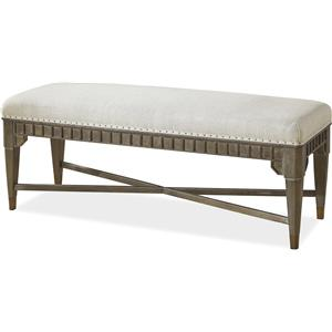 Morris Home Furnishings Platinum Platinum End Bench