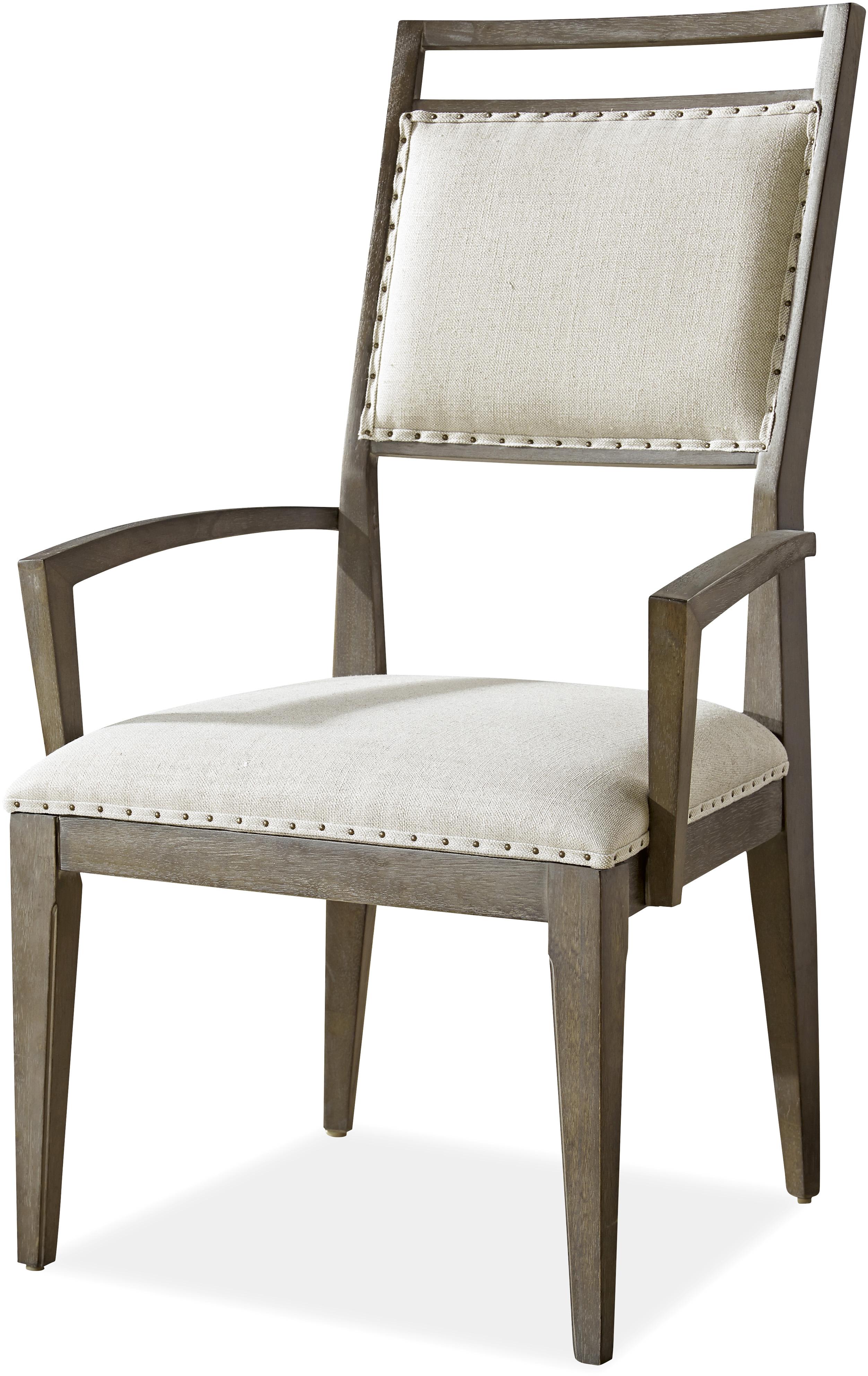 Wittman & Co. Platinum Platinum Dining Arm Chair - Item Number: 507635-RTA