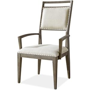Morris Home Furnishings Platinum Platinum Dining Arm Chair