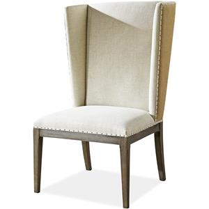 Morris Home Furnishings Platinum Platinum Host Side Chair