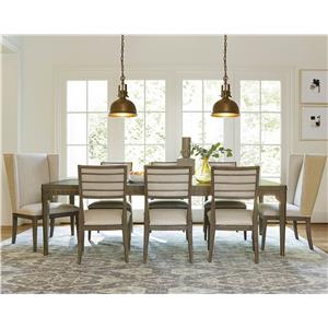Morris Home Furnishings Platinum 9 Piece Dining Set