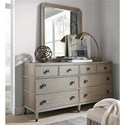 Universal Playlist Dresser and Mirror Set - Item Number: 507A040+M