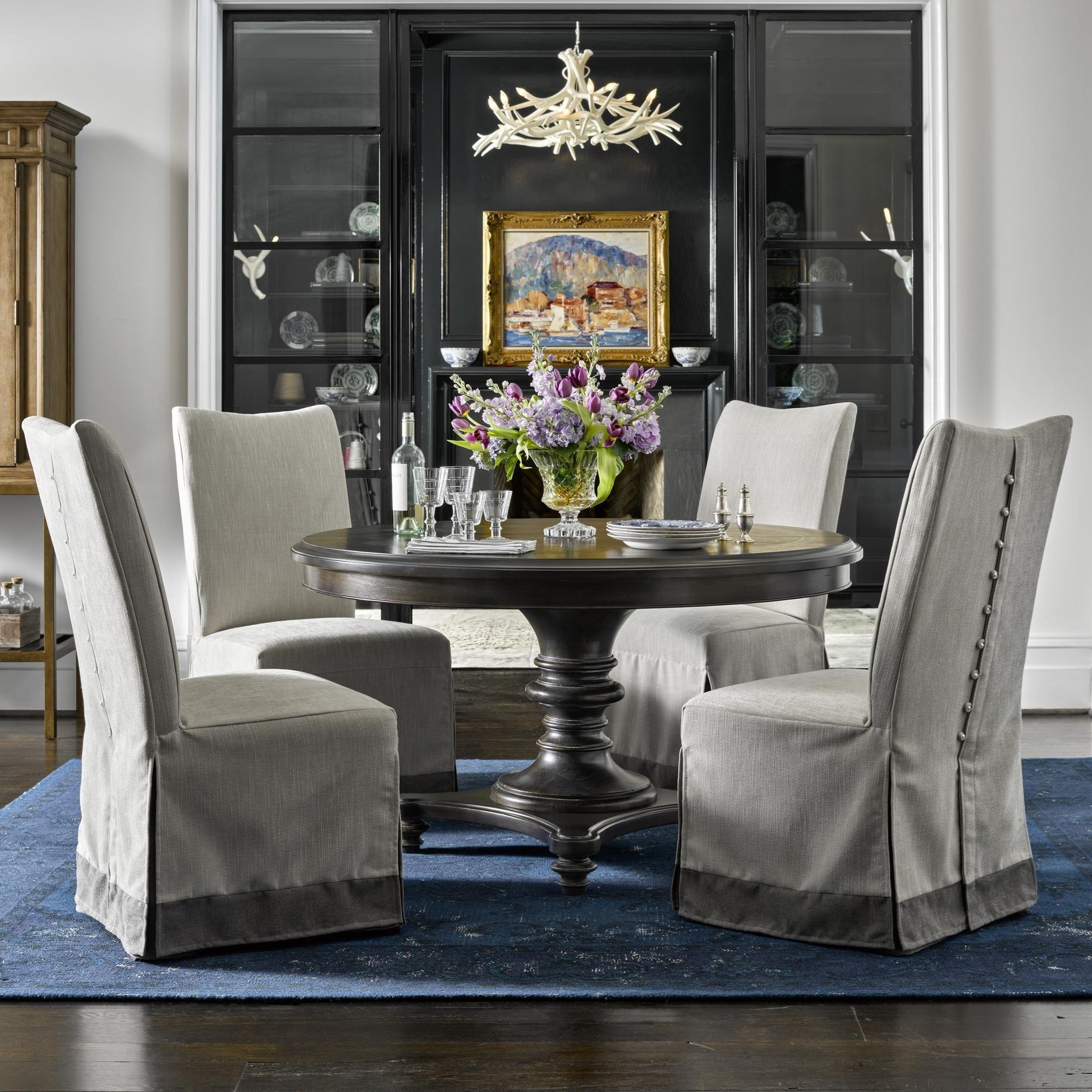 Universal Dining Room Furniture: Universal Postscript 5 Piece Round Dining Set With