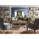 Morris Home Furnishings Prescott Crosspoint Accent Chair with Wood Outer Back