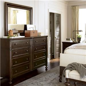 Morris Home Furnishings Providence Drawer Dresser and Landscape Mirror Set