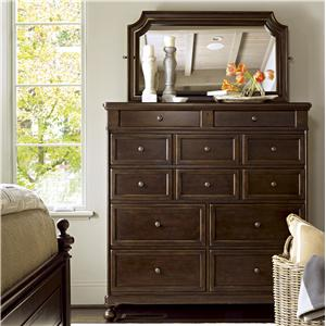Morris Home Furnishings Providence Dressing Chest with Mirror
