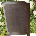 Universal Proximity Cane-Back Side Chair with Fluted Legs  - Woven Cane Detail on Chair Back