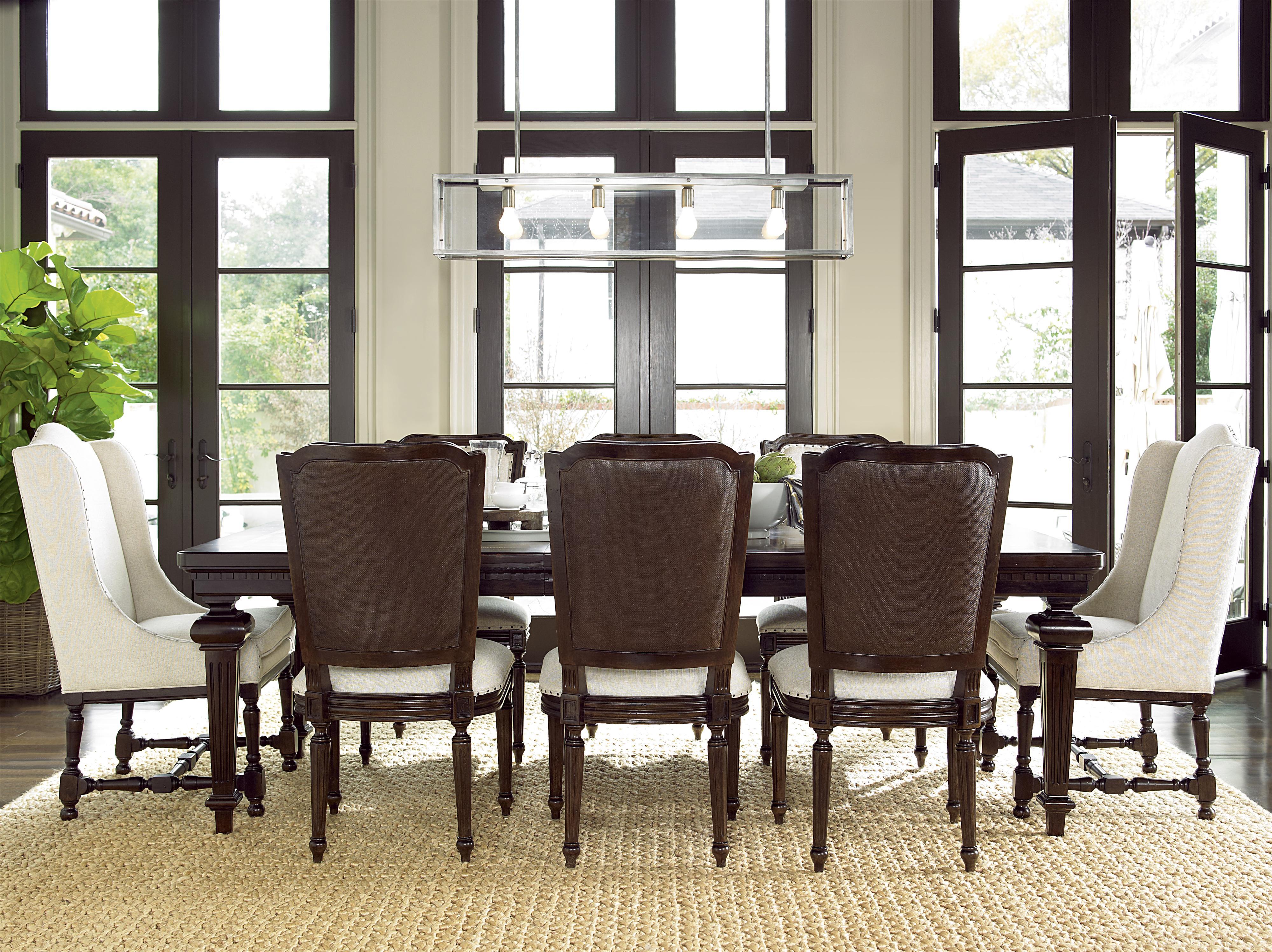 Universal Proximity 9 Piece Dining Set - Item Number: 356653+2x639+6x622