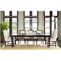 Morris Home Furnishings Providence 9 Piece Dining Set - Item Number: 356653+2x639+6x622