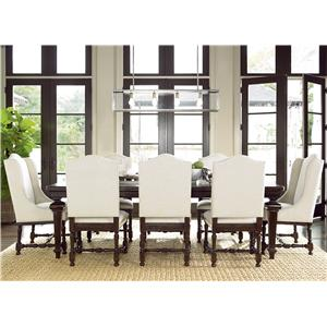 Morris Home Furnishings Providence 9 Piece Dining Set