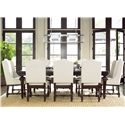 Universal Proximity 9 Piece Dining Set - Item Number: 356653+2x639+6x636