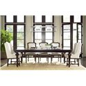 Morris Home Furnishings Providence Dining Table with Pecan Veneer Accents