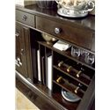 Universal Proximity Dining Cabinet with Wine Bottle Storage - Buffet Offers Wine Bottle Storage and Vertical Platter Storage