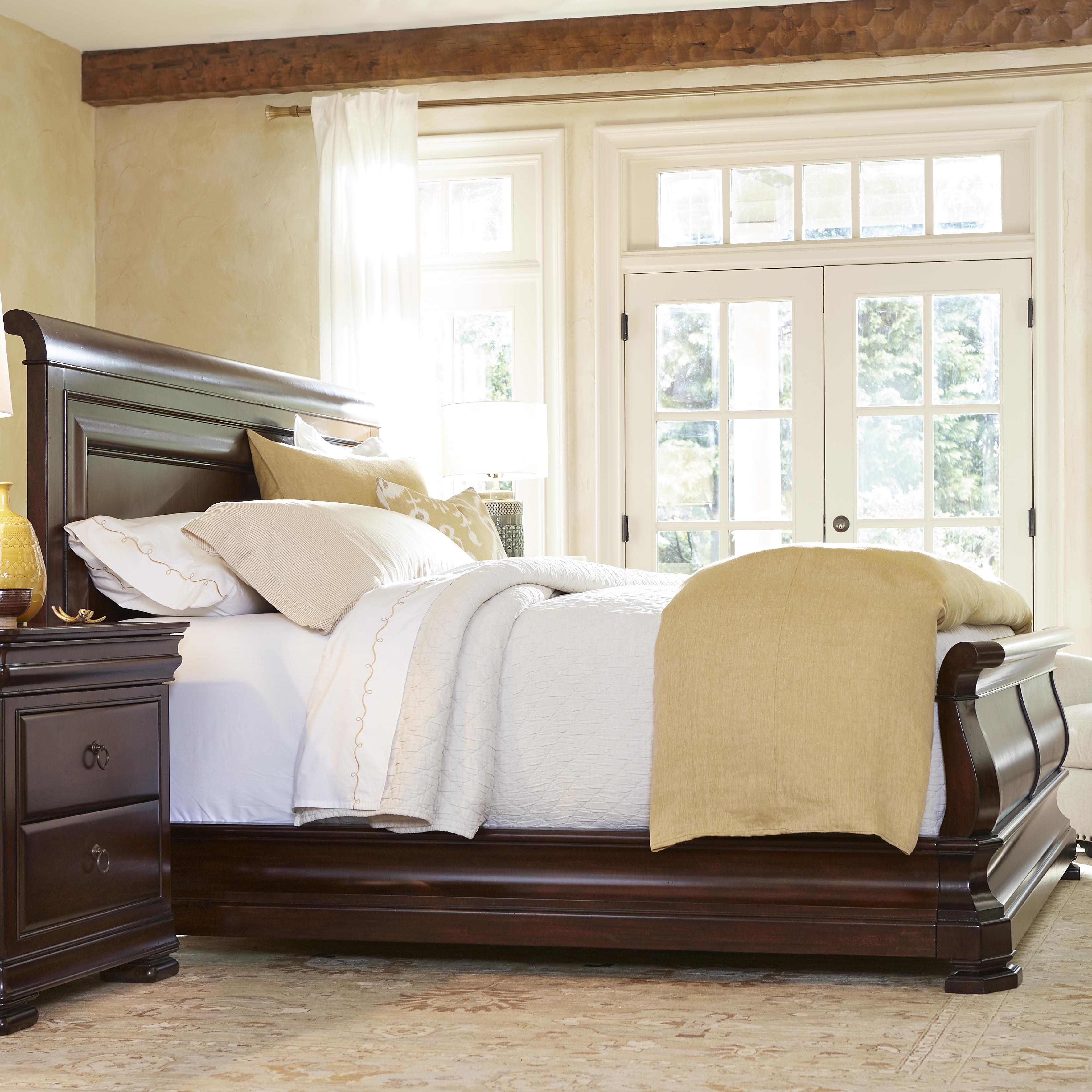 Reprise Queen Sleigh Bed by Universal at Baer's Furniture