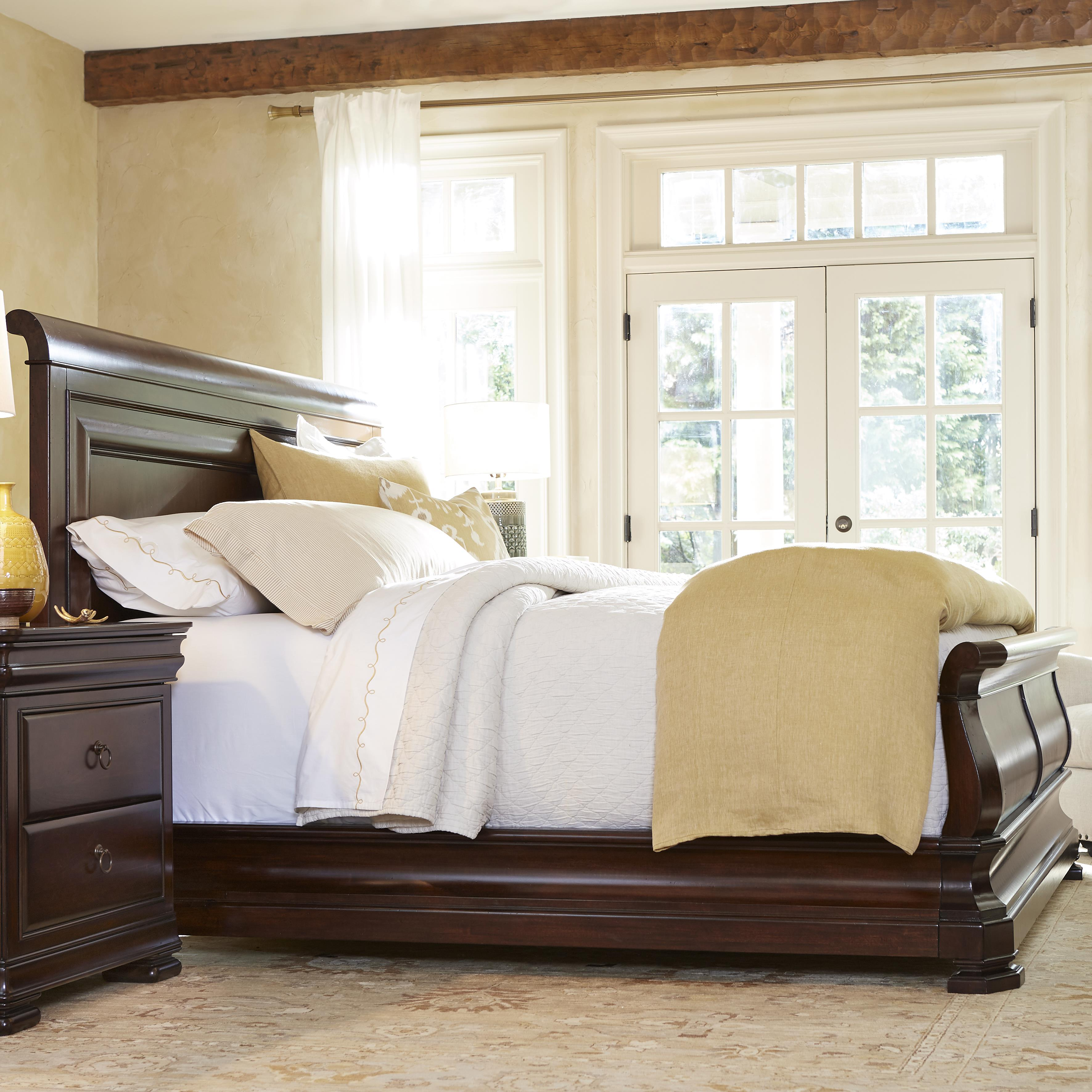 Morris Home Furnishings Newton Falls Newton Falls King Sleigh Bed - Item Number: 58176B