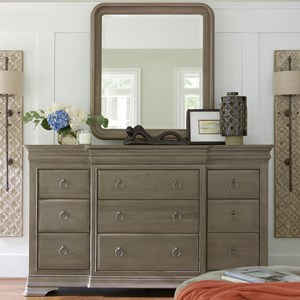 Universal Reprise Dresser and Mirror