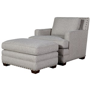 OCONNOR DESIGNS Riley Upholstered Chair & Ottoman Set