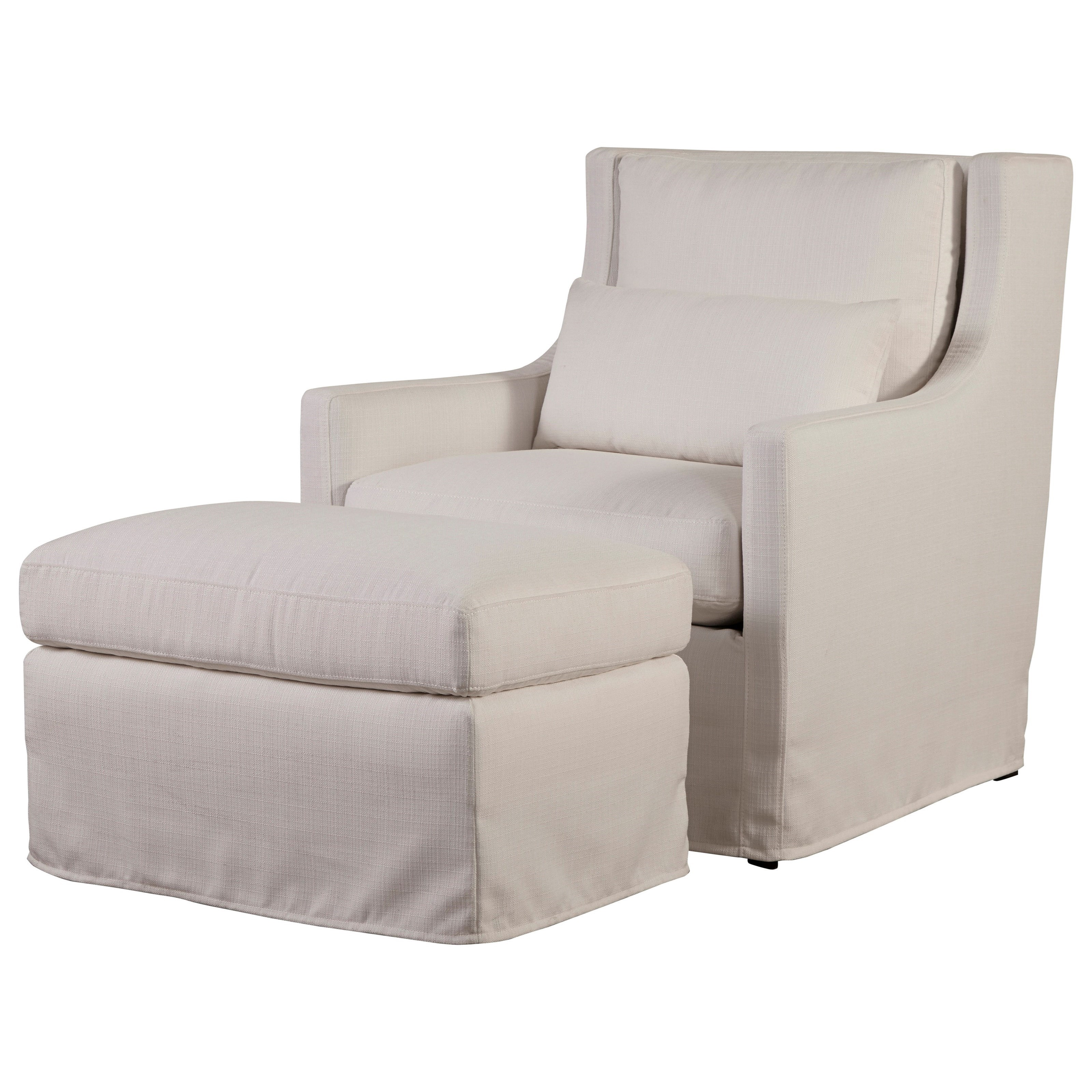 Sloane Upholstered Chair & Ottoman Set by Universal at Baer's Furniture