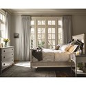 Universal Sojourn Queen Upholstered Bed with Metal Accents