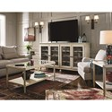 Morris Home Furnishings Sojourn Entertainment Console with Glass Doors and Metal Grills