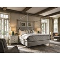 Universal Sojourn Respite Queen Upholstered Bed with Removable Canopy