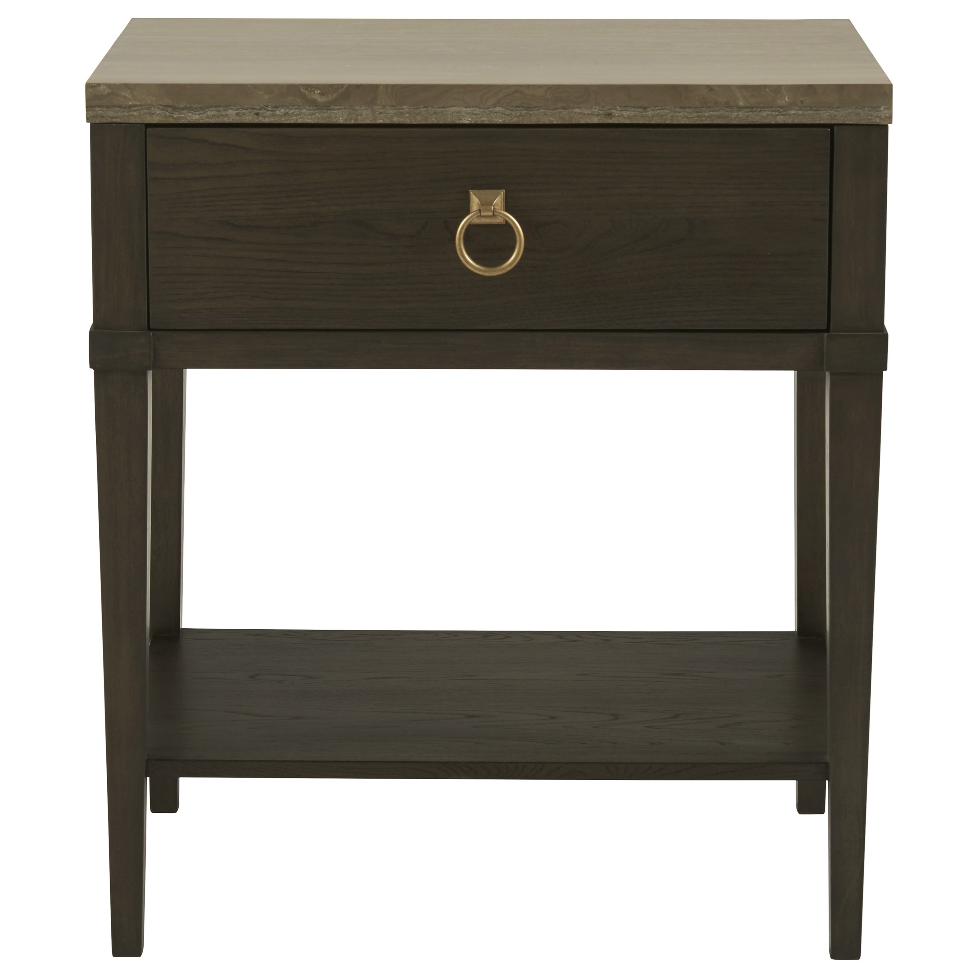 Universal Soliloquy 788350 1 Drawer Night Table With Stone