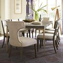 Universal Soliloquy 9 Piece Table and Chair Set - Item Number: 788653+2x638+6x636-RTA