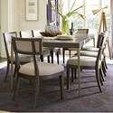 Universal Soliloquy 9 Piece Table and Chair Set - Item Number: 788653+8x636-RTA